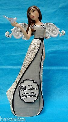 """Angel Holding Dove 7.5"""" """"my Daughter My Friend"""" Pavilion Gift New #88053"""