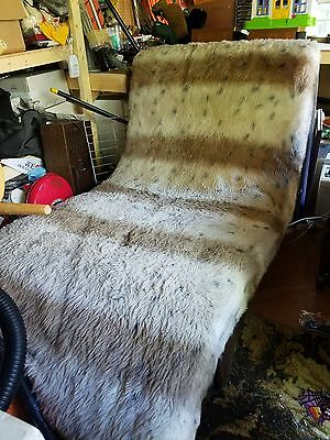 Vintage Shag Fur Lounge Chair Double