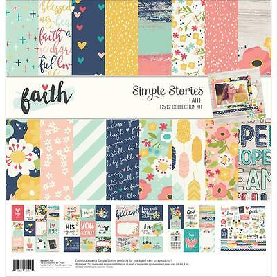 "Simple Stories Collection Kit - FAITH - 12x12"" papers + stickers"