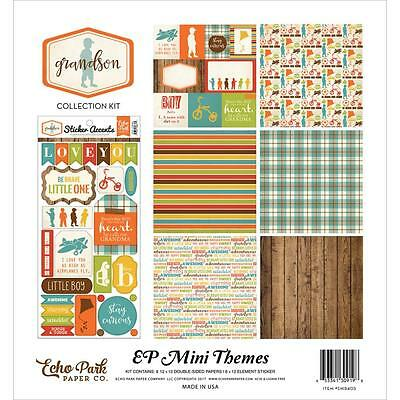 "Echo Park Mini Themes Collection Kit GRANDSON - 12x12"" papers + stickers"