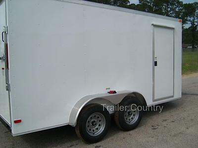 NEW 6x12 6 x 12 V-Nose Enclosed Cargo Trailer w/ Ramp - NEW 2017