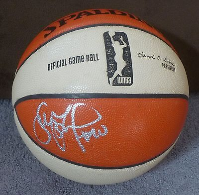 Sue Bird Signed 2013 Seattle Storm Game Used Team Issued Wnba Basketball