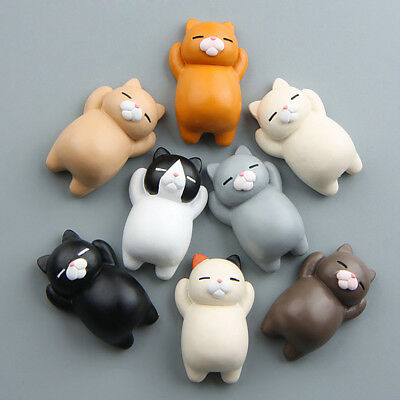 Funny 3D Cartoon Animals Cat Fridge Magnet Sticker Refrigerator Gift Home Decor