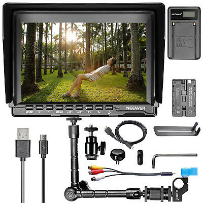 "Neewer NW759 7"" HD Camera Monitor with Accessories Kit for Sony Canon Nikon"