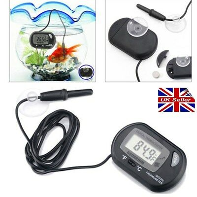 Newest LCD DIGITAL FISH AQUARIUM WATER TANK THERMOMETER NEW UK SELLER # EF