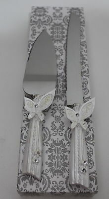 Wedding & Event Decoration - Cake Knife and Server Set - Butterfly