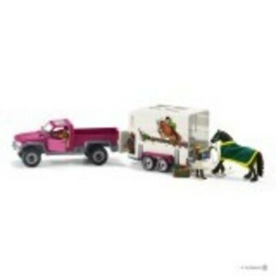 NEW Schleich Pick Up with Horse Box SC42346