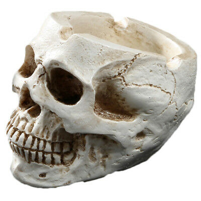 Skull Shaped Resin Ashtray Unique Home Ornament Halloween Decorative Supplies