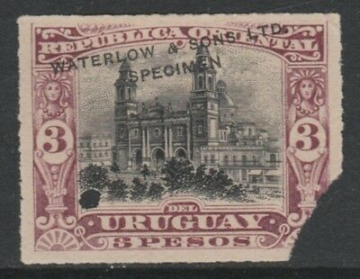 Uruguay 4919 - 1895  MONTEVIDEO CATHEDRAL 3p PRINTER's SAMPLE