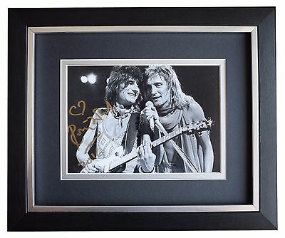 Ronnie Wood SIGNED 10x8 FRAMED Photo Autograph Display Rolling Stones Music COA