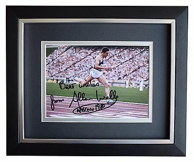Allan Wells SIGNED 10x8 FRAMED Photo Autograph Display Olympics 100m Sport COA