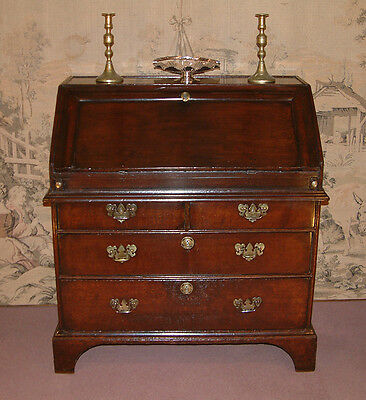George I period Oak Bureau dating from c 1710.
