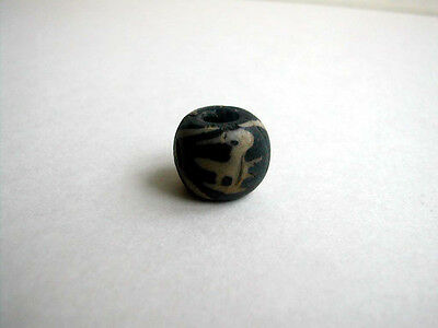Ancient Java Bird and Sunburst glass Bead