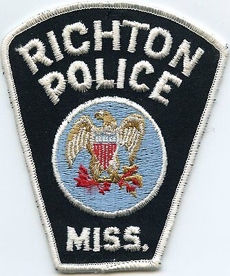 old vintage RICHTON MISSISSIPPI MS POLICE PATCH