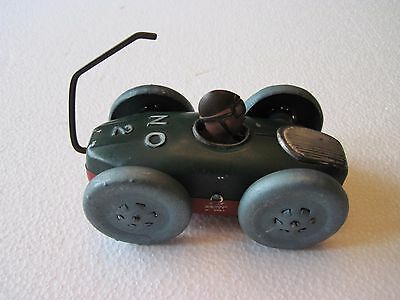 Vintage Antique Occupied Japan Tin Toy Windup Rollover Race Car #1 #2 Red Green