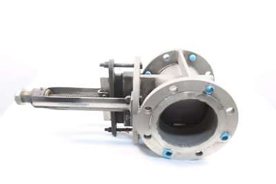 New Rovalve 6In1-D/10.5In F-F Stainless Flanged Knife Gate Valve 6In D570241