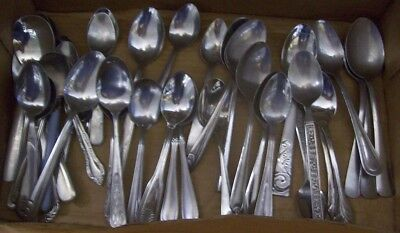 Restaurant Equipment Supplies 36 ASSORTED TABLESPOONS, SOUP SPOONS, TEASPOONS
