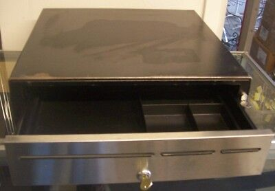 PRINTER INTERFACE CASH DRAWER MODEL M-S EP-127 MEDIA Black with Stainless