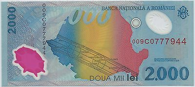 ROMANIA - 2 000 LEI - 11.8.1999 - TICKET FROM BANK Quality: NEW