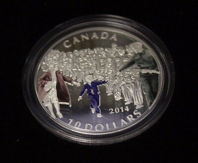 2014 $10 Fine silver coin - Wait for me Daddy , Coloured