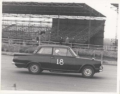 FORD CORTINA TWO DOOR SALOON MK.1, CAR No.18 RACING, PERIOD PHOTOGRAPH.