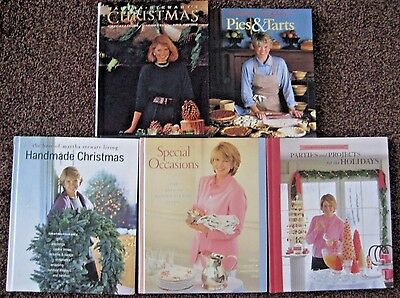 5 Martha Stewart Books Handmade Christmas Special Occasions Parties & Projects