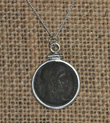 Constantine The Great Roman Authentic Ancient Coin 925 Sterling Silver Necklace