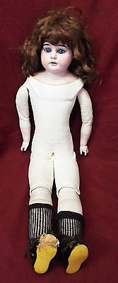 "Old Antique 22"" German ARMAND MARSEILLE Bisque Head Kid Leather Body DOLL"