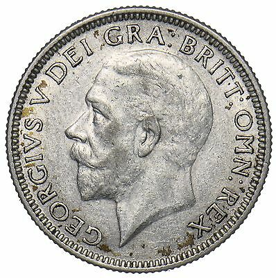 1926 Shilling - George V British Silver Coin - Nice