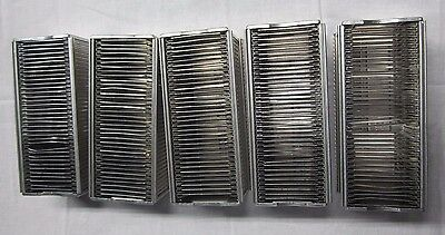 "AIREQUIPT Automatic 36 Slide Magazine 2"" x 2"" Slides for Argus Lot of 5 Vintage"