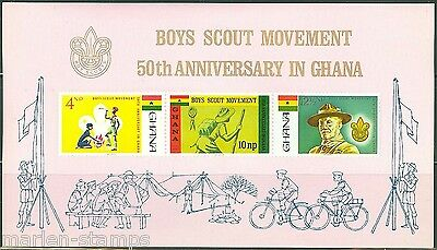 GHANA  IMPERFORATED SOUVENIR SHEET BOY SCOUTS  SCOTT#310a  MINT NEVER HINGED