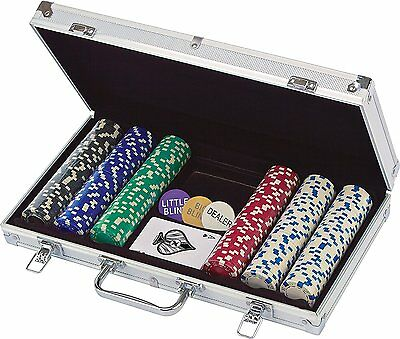 Brand New 300 Count Casino Style 11.5 Gram Poker Chip Set in an Aluminum Case