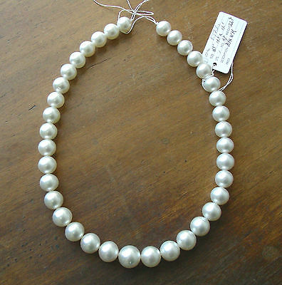 WHITE SOUTH SEA PEARL 17mm!!  NECKLACE 100% NATURAL COLOUR+18ct GOLD CLASP+CERT