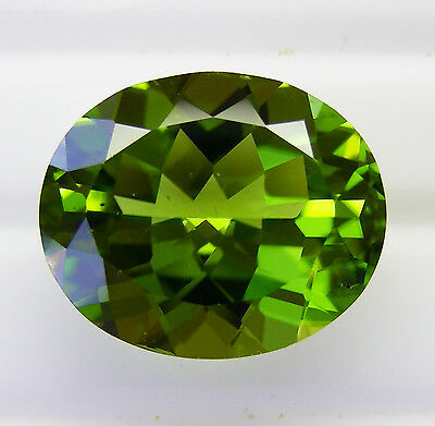 10.63ct!! PERIDOT- NATURAL UNTREATED- EXPERTLY FACETED IN GERMANY+CERT AVAILABLE