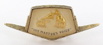 Vintage Hmv His Masters Voice Radio / Record Player / Tv Identification Plaque
