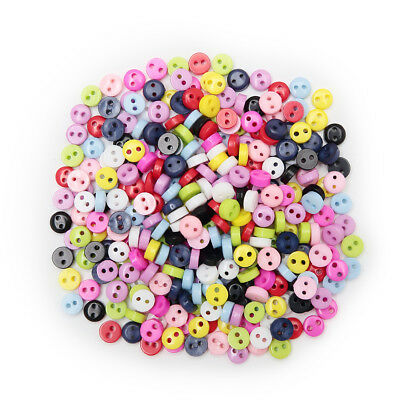 100pcs Multicolor 2 hole Round Resin buttons Sewing Scrapbooking Decorative 6mm