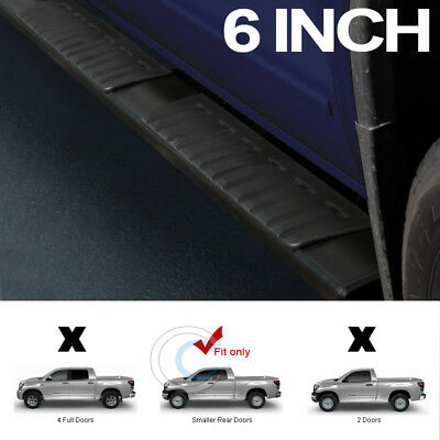 """6"""" Oe Aluminum Black Side Step Rail Running Boards For 07-18 Tundra Double/crew"""