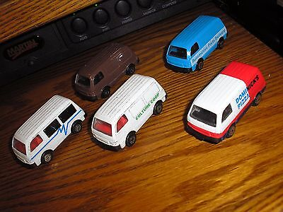 Nice Lot of 5 Different Vintage Maisto Ford Delivery Econovan