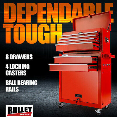 NEW BULLET 8 Drawer Tool Box Cabinet Chest Storage Toolbox Garage Organiser Set