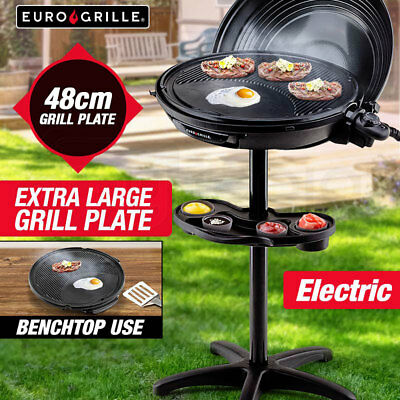 NEW EuroGrille Electric BBQ Outdoor Indoor Portable Barbecue Grill Stand Camping