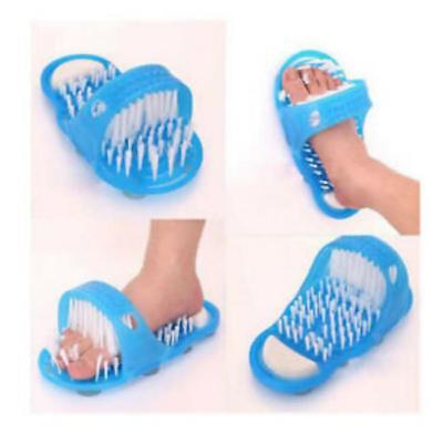 Easy Exfoliate Shower Feet Foot Cleaner Scrubber Washer Bath Brush Massager LA