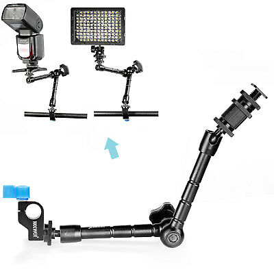 "Neewer 11.8"" Aritcultating Magic Arm with 15mm Rod Clamp for Mounting LED light"