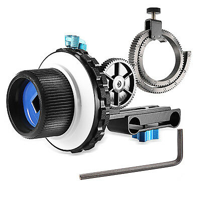 Neewer A-B Stop Follow Focus C2 for with Gear Ring Belt Fits for 15mm Rod Mounts