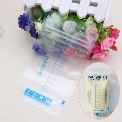 1/5/20pcs 250ML Baby Breast Milk Storage Bags Food Pouch Pre-sterilised BPA
