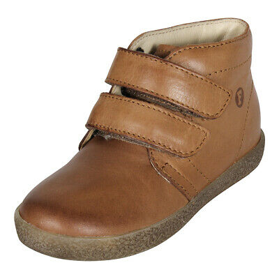 NATURINO FALCOTTO BABY KIDS LEATHER SHOES Touch Fastener Short Boots Cognac