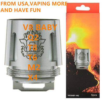 5x Smok TFV8 Baby Coil Head Cloud Beast Replacement for V8 Baby T8  Q2  2 get 1