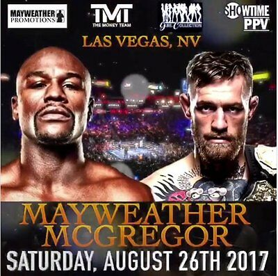 2x Floyd Mayweather V Conor Mc Gregor Tickets - Las Vegas, Nevada - 26 AUG 2017