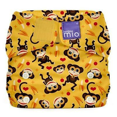 NEW Bambino Mio Miosolo All-In-One Reusable Nappy Onesize Cheeky Monkey