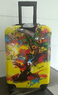 "Mia Toro Beautiful Minds 21"" Carry On Roller Spinner Hardside Luggage Suitcase"