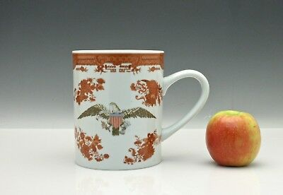 Vintage Porcelain Mottahedeh Chinese Export Design Oversize Mug with Eagle